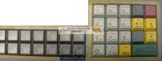 Szilikon billentyűzet takaró fólia Micra Sento M és Light pénztárgépekhez